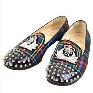 Authentic Christian LOUBOUTIN Check intern loafers